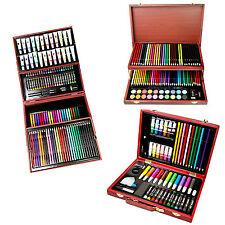 Children Art Set, Elegant Wooden box Case, {Colouring Pencils, Paints, etc}