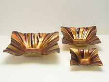 Murano glass 4 corner decorative bowls earthtones choose from 3 sizes NEW