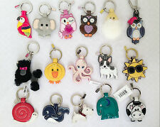 COACH LEATHER CUTE CARTOON ANIMAL KEYCHAIN KEYFOB