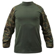 combat shirt woodland digital camo tactical style various sizes rothco 90005