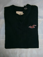 NWT Hollister Seagull Embroidery Long Sleeve Shirt Mens Navy Muscle Fit Size S