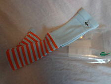 LACOSTE BABY BLUE ORANGE TIGHTS SIZE  UK 6/8 BNIP THICK WINTER