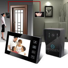 7 inch Color LCD Touch Key Wired Video Door Phone Doorbell Intercom System