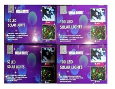 MEGA BRITE 50 OR 100 OUTDOOR CHRISTMAS LED SOLAR LIGHTS DECORATIONS