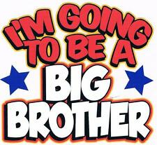 I'M GOING TO BE A BIG BROTHER Gray Kids Tee Shirt Sizes 2-4=XS To 14-16=LG