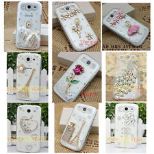 1x 3d bling flower diamond crystal clear case cover Samsung Galaxy ace 3 s7270