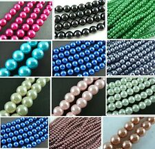 11 Color Glass Pearl Round Spacer Beads jewelry making 4mm/220 6mm/140 8mm/50