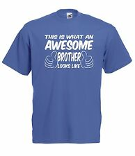 AWESOME BROTHER funny gift NEW xmas birthday gift ideas boys girls top T SHIRT