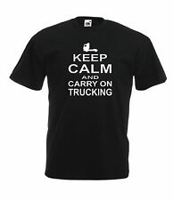 KEEP CALM TRUCK funny trucker dad fathers gift ideas NEW Mens Womens T SHIRTS