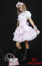 Cosplay Gothic Lolita Kleid 3 Teile Bluse Haarreife Rosa Sexy Lace WOW