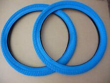 "Pair of NEW Coloured 20"" BMX Bike Freestyle Tyres Cycle Bicycle"