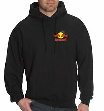 EMBROIDERED RED BULL HOODIE BLACK BMX ROCKSTAR RACING ADULTS KIDS