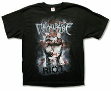 """BULLET FOR MY VALENTINE """"RIOT"""" FIST BLACK T-SHIRT NEW OFFICIAL ADULT"""