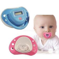 New Baby Digital Dummy Pacifier Thermometer Trendy Safe Pink SWTG