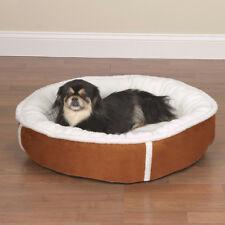 Slumber Pet Sherpa Lining Faux Suede Puppy Dog Bed Round Soft & Warm All Sizes