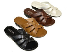 k-501 New Women Comfort Wedge Sandals Slippers Faux Leather shoes size 5~10