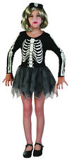 SKELETON GIRL TUTU DRESS HALLOWEEN FANCY DRESS COSTUME ALL AGES