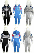 New Kids Baby Girls Boys Hoody All in One Onesie Jumpsuit  Size 1-2 3-4 5-6 Year