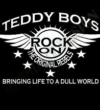 Teddy Boy Homage T-Shirt  Mens Womens Rock And Roll Cafe Racer The 50's Fifties