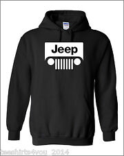 JEEP HOODIE. fleece hooded hoodie sport utility vehicle off-road 4 wheel pick up