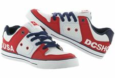 KIDS DC SHOES YOUTH PURE RB3 RED BLUE WHITE childs boys skate bmx trainers new