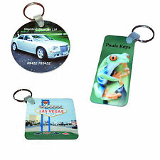 Photo Keyrings High Gloss Personalised with your image and text. 3 Sizes