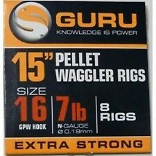 """Guru Pellet Waggler Rig 15"""" with bait bands Hook to Nylon Rigs 2 or 3 FREE POST*"""