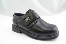 Luna Shoes Boys' Black Round Toe Dress Loafer Kids Size 11-4 (4-8 years old)