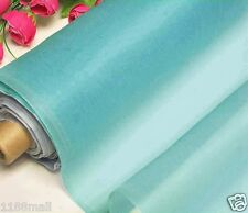 By 0.5 Yard 100% Pure Silk Organza Fabric Material Mistery Blue Light Weight