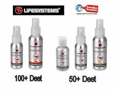 Lifesystems Exped PLUS 100+ & 50+ DEET Insect Mosquitio Repellents Spray/Lotion