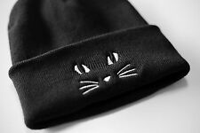 Cute Cat Beanie Hat Feline Meow Tumblr Alternative Hipster One Size Gift B46