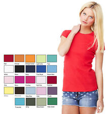 Bella Canvas Damenshirt - Spitzenqualität - US-Label - Round-Neck T-Shirt
