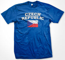Czech Republic Distressed Pride Flag World Cup Soccer Olympics Mens T-Shirt