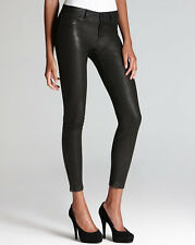 NWT J Brand Leather skinny pants with ankle zip in Noir Black
