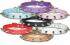 Spiked Dog Collars Spiky Leather Studded Collar Small Medium Large Puppy Spikey