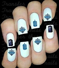 30 DOCTOR DR WHO NAIL ART DECALS STICKERS PARTY FAVORS MIX & MATCH BLUE