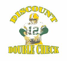 Discount Double Check Shirt Aaron Rodgers Shirt Green Bay Packers Tshirt Jersey