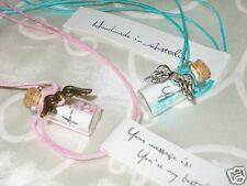 Message In A Bottle Necklace - Best Friend Anniversary Mothers Day Gift Idea