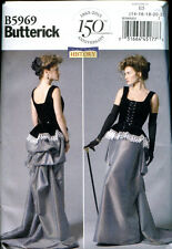 BUTTERICK 5969 Steampunk Victorian/Edwardian Corset & Skirt Sewing Pattern