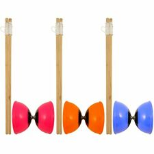 Children's Diabolo Juggling Toy Game Set w/ 40cm Wooden Sticks - 3 Colours!