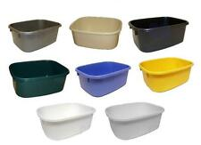 LUCY PLASTIC LARGE SMALL OBLONG KITCHEN WASHING UP BOWL SINK  - 8 COLOURS !