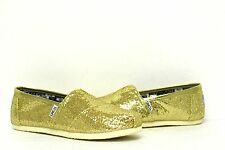Toms Classics Gold Glitters Slip-on Shoes 001013C11|GOLD Youth12, 12.5, 1.5, 2.5