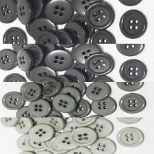 "19mm 3/4"" SZ 30 Small Plastic Coat Suit Shirt Buttons GREY 100-1000 Wholesale"