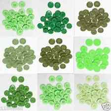 """23mm 7/8"""" SZ 36 Small Plastic Coat Buttons GREEN 100-1000 buttons Wholesale"""