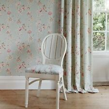 VINTAGE FLORAL WALLPAPER BY CLARKE AND CLARKE CLARISSE IN 5 COLOURS BY THE ROLL