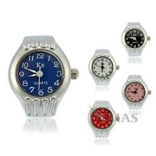 Quartz Movement Finger Ring Watch Round Alloy Arabic Numberals Lady Gift HOT