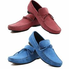 ZASEL MENS BLUE SUEDE LEATHER CASUAL BOAT DECK DRIVING LOAFERS SNEAKERS SHOES