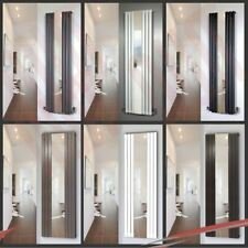 Vertical Designer Mirror Radiators, Oval & Flat Tube, Chrome, White & Black
