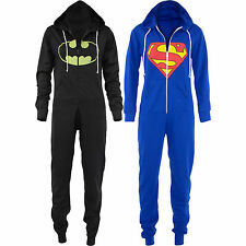 Children Kids Boys Girls Superman Batman Hooded All In One Piece Onesie Jumpsuit