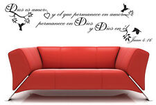 Dios es amor Spanish vinyl wall decal words lettering home decor sticker